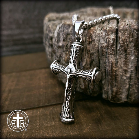 Men's Artistic Crucifix on Heavy Chain