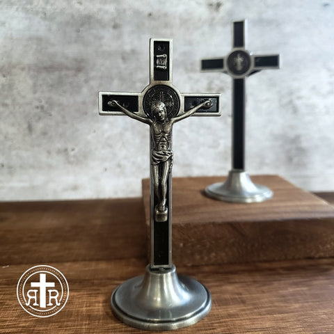 St. Benedict Tabletop Crucifixes - Black