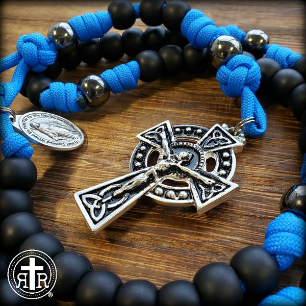 z- Custom Blue/Irish Rosary for Matthew B