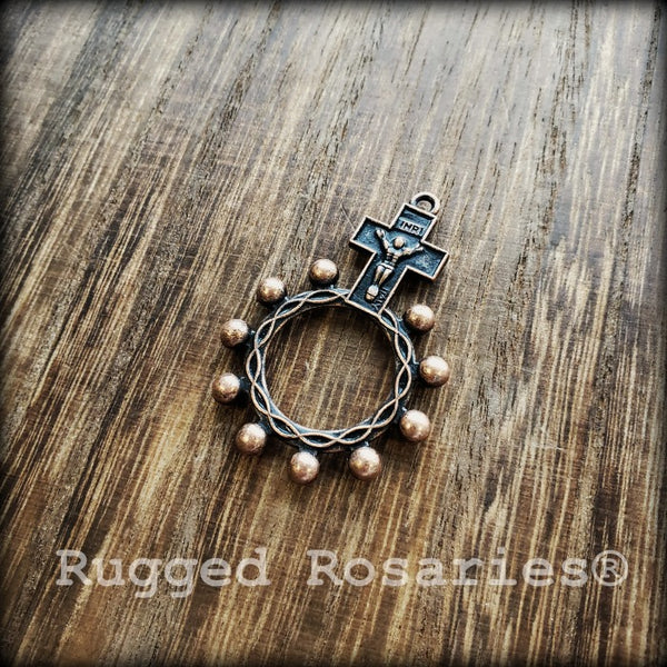 Copper Rosary Rings