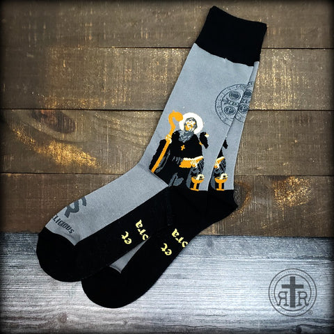 Rugged Socks - Saint Benedict
