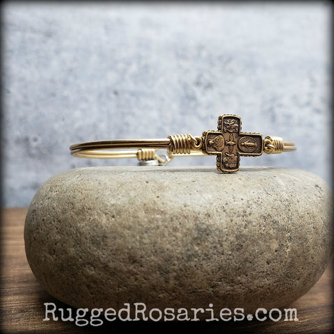Devotional Cross Bangle Bracelet