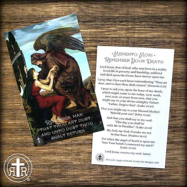 Bulk Memento Mori Prayer Cards