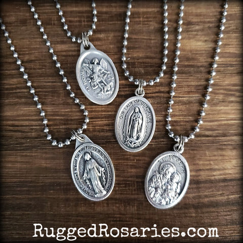 Saint Medal Dog-Tag Pendants