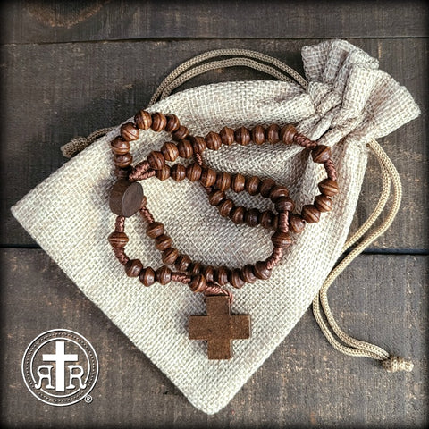 The + Living Simply + Catholic Wood Rosary