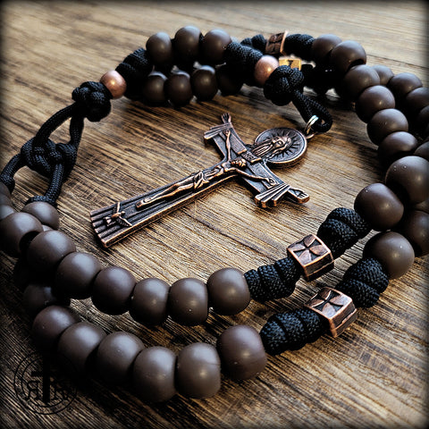 Trappist Rosary - Brown Traditional Rugged Rosary