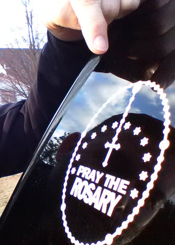 Pray the Rosary Car Decal