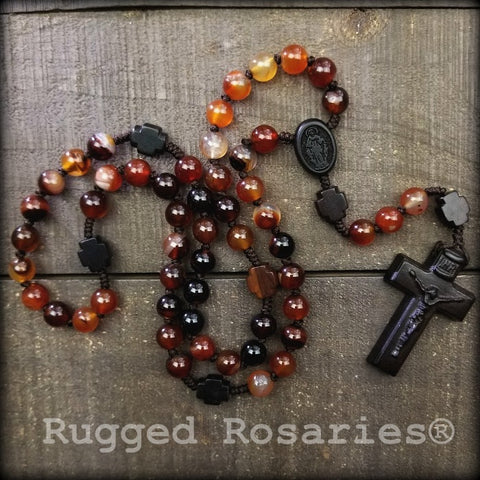 Fire Agate Rosary