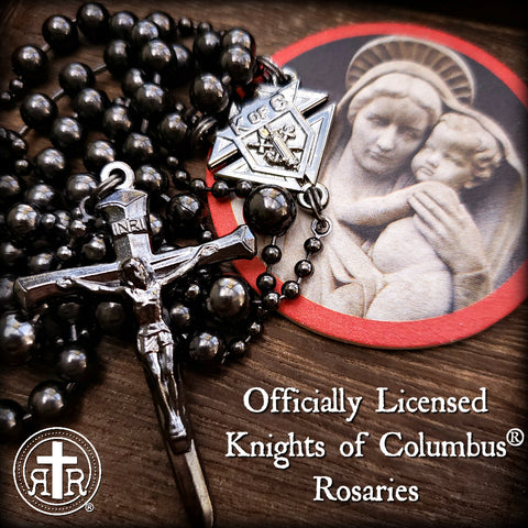 Knights of Columbus® WWI Battle Beads Rosary in Gunmetal