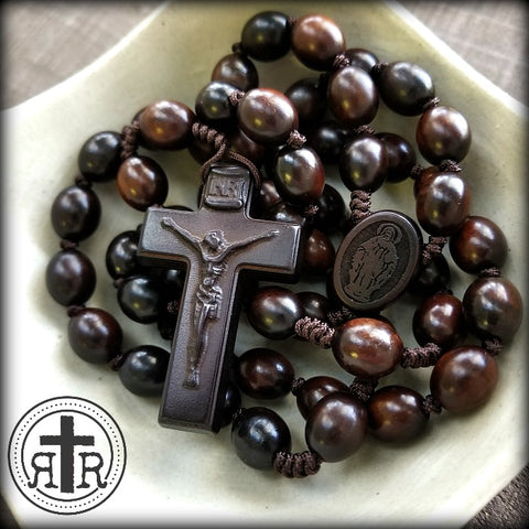 Quality Handmade Wood Rosaries from Rugged Rosaries
