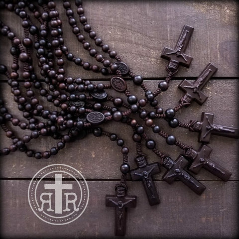 Miniature Wood Rosary