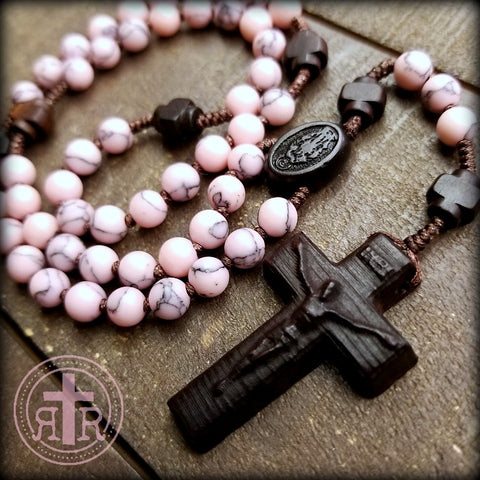 Quality Handmade Wood and Gem Rosaries