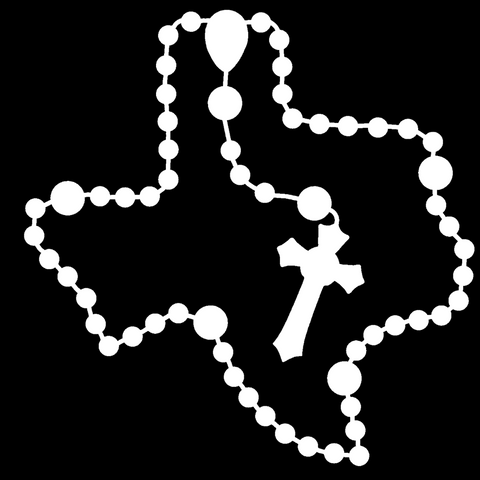 Texas Rosary Car Decal