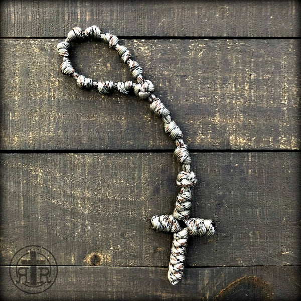 z - Custom Knotted Pocket Rosary for Chris G