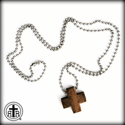 Crux Quadrata Wood Necklace - The Early Christian Cross