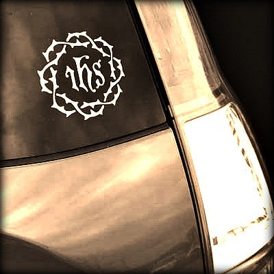 Crown of Thorns Car Decal
