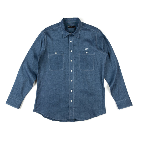 Chambray Flannel Work Shirt