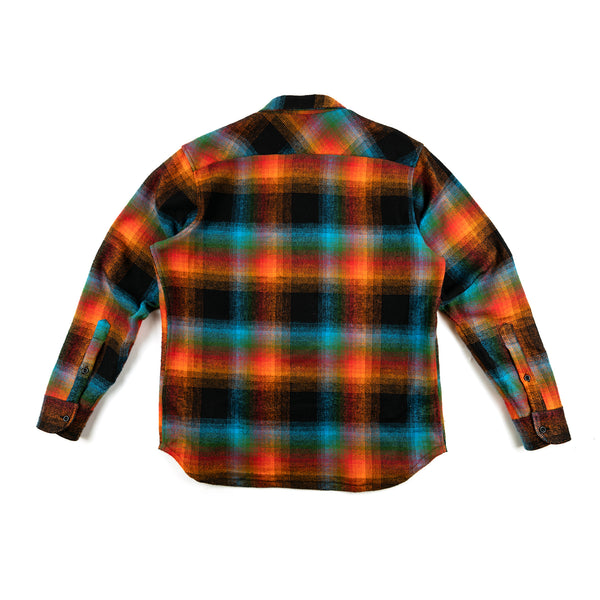 Double Plaid Flannel Zip Shirt