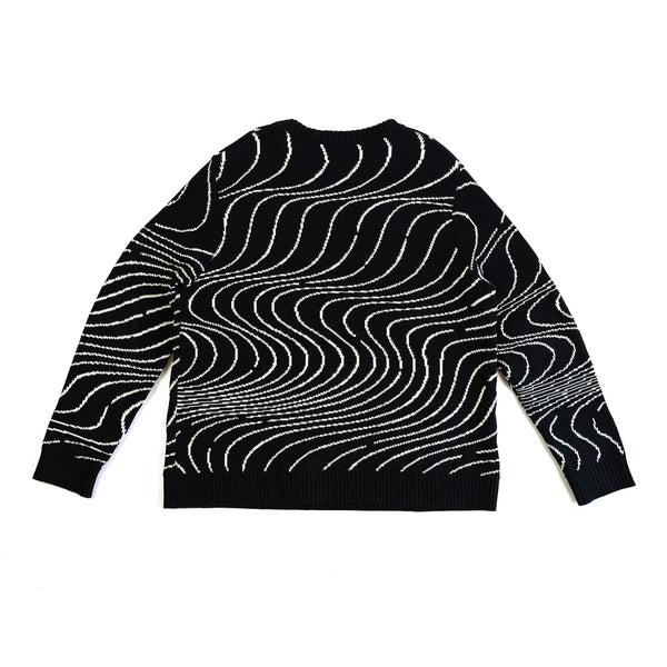 Black Waves Jacquard Sweater
