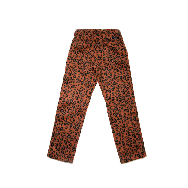 Leopard Wool Work Pants