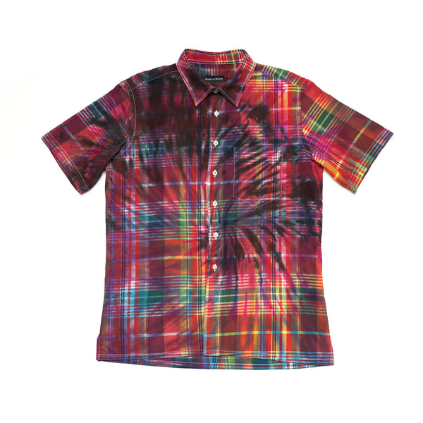 Tie-Dyed Madras Shirt