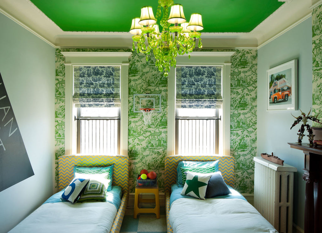 Greenery Explosion in a Child's Upscale Bedroom