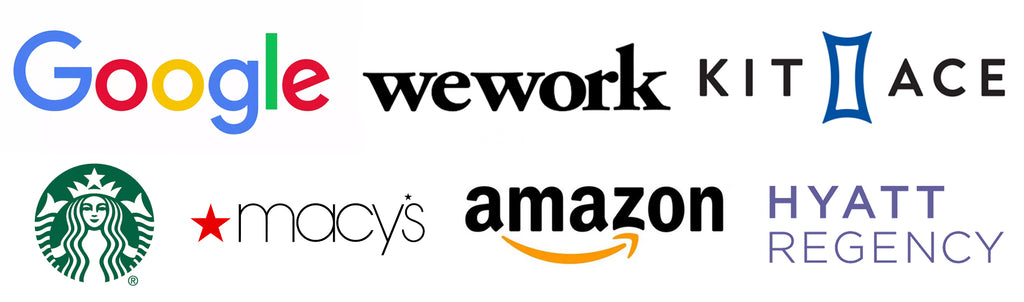 Client List- Hammers and Heels- USA Made Lighting and Furniture- Google. WeWork. Amazon