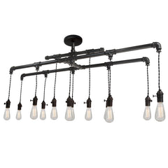 Industrial Metal Pipe Chandelier