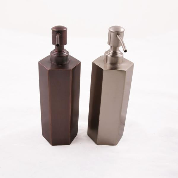 Hand-Welded Metal Soap Dispensers For The Bathroom