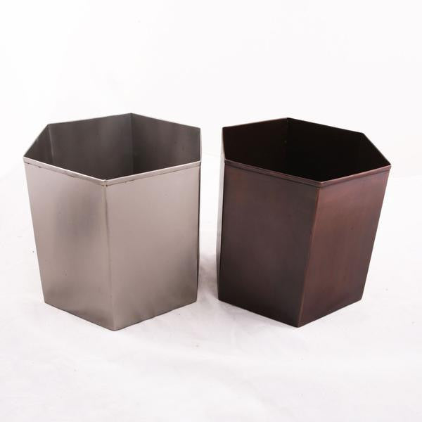 Hand Welded Metal Waste Baskets For The Office And Bathroom Geometric Decor Trends