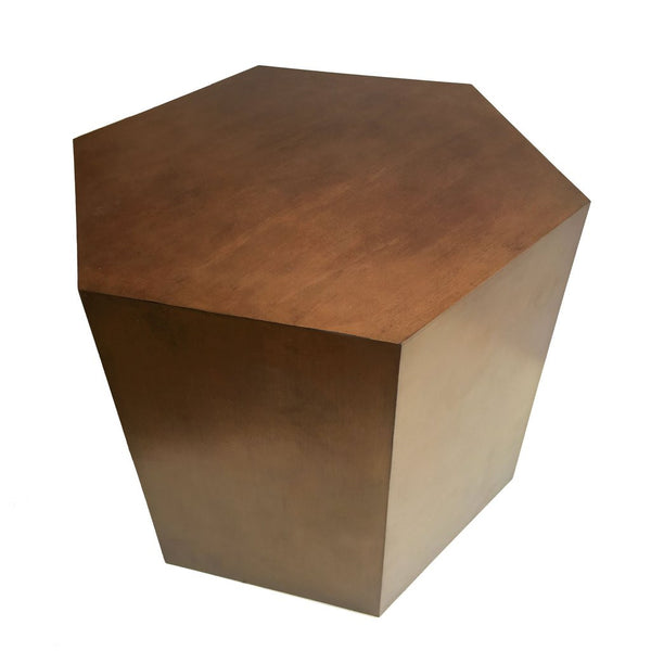 Oil Rubbed Bronze Geometric Hive Table Interior Design Trends