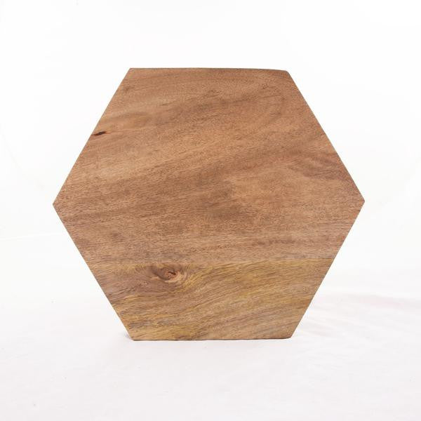 Solid Wood Hexagon Cutting And Serving Board Geometric Decor Trends