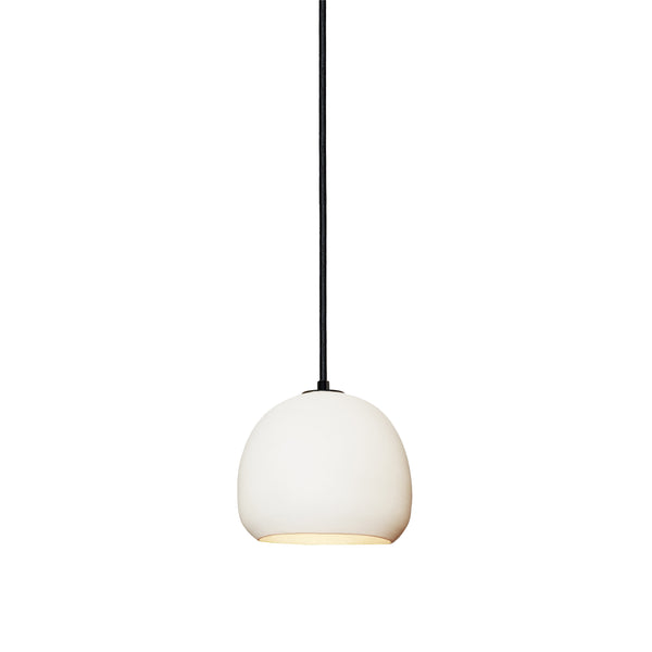 Mini White Porcelain Round Globe Clay Pendant Light- Made in USA. Custom. Exclusive. Quality- Hammers and Heels