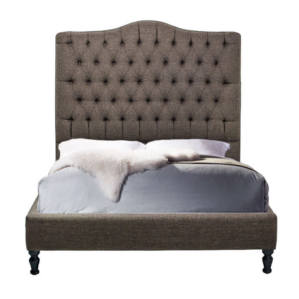 Custom Upholstered Tufted Platform Bed - Hammers and Heels  - 1