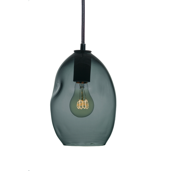 Bubble Blue Green Grey Hand Blown Glass Pendant Light- Small Limited Edition - Hammers and Heels  - 1