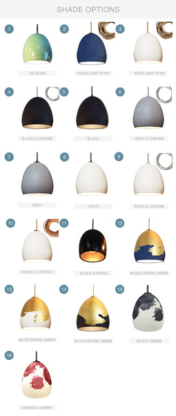 Custom Design Your Porcelain Ceramic Clay Pendant Light - Hammers and Heels  - 3