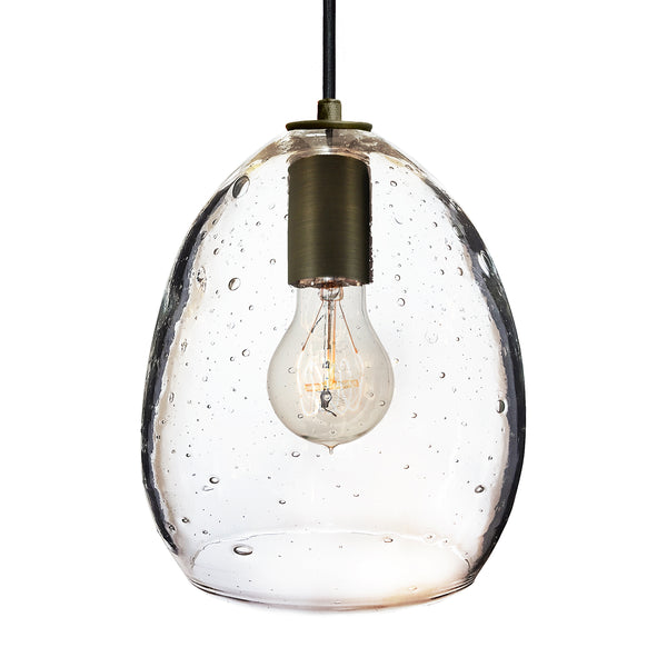 Seedy Hand Blown Glass Orb Pendant Light- Hammers and Heels USA Made- Custom. Exclusive. Quality