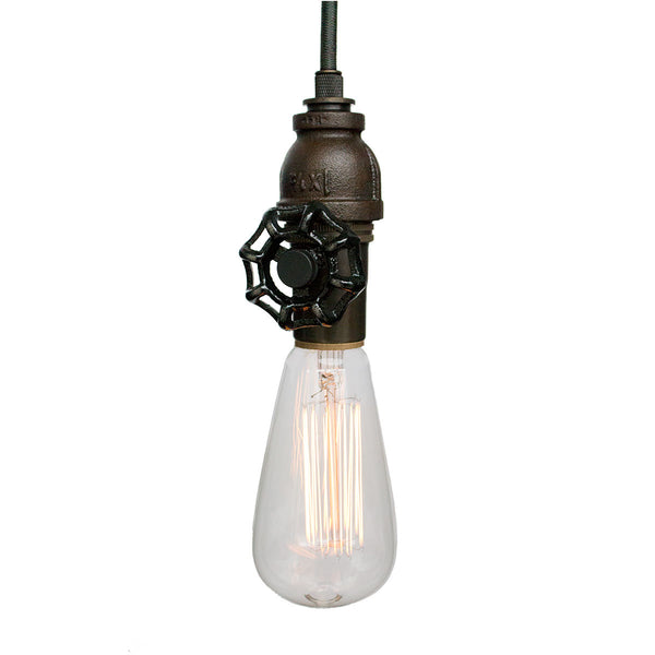 Vintage Upcycled Valve Pipe Pendant Light Pendant Lighting- USA Made. Custom. Exclusive. Quality Hammers and Heels