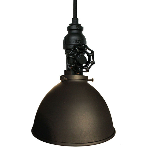 "Factory 7"" Vintage Valve Pipe Pendant Light Pendant Lighting- USA Made. Custom. Exclusive. Quality Hammers and Heels"