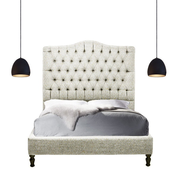 Custom Upholstered Tufted Platform Bed - Hammers and Heels  - 2