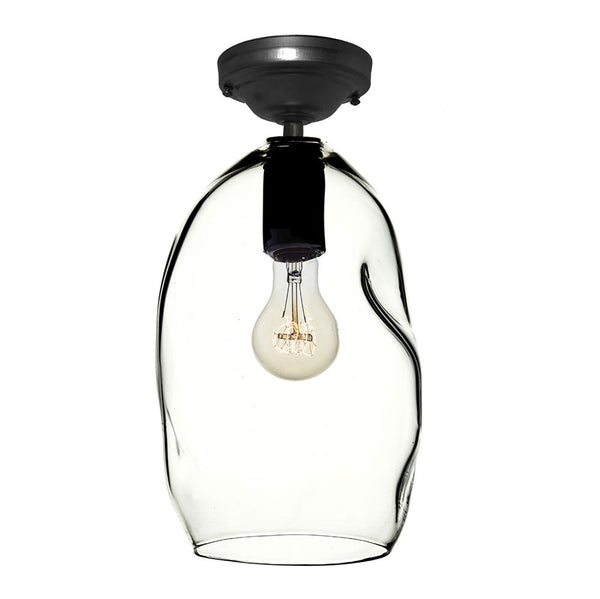 Bubble Clear Hand Blown Glass Pendant Light- Flushmount - Hammers and Heels  - 9