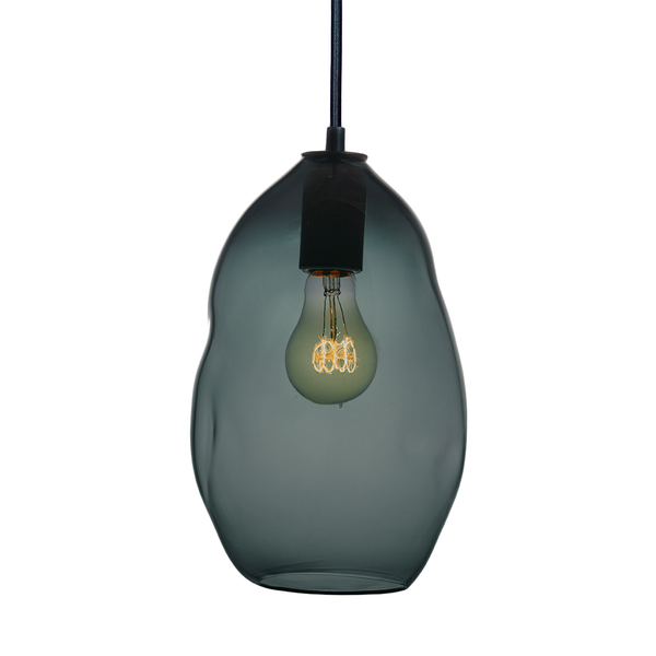 Bubble Blue Green Grey Hand Blown Glass Pendant Light- Large Limited Edition - Hammers and Heels  - 1