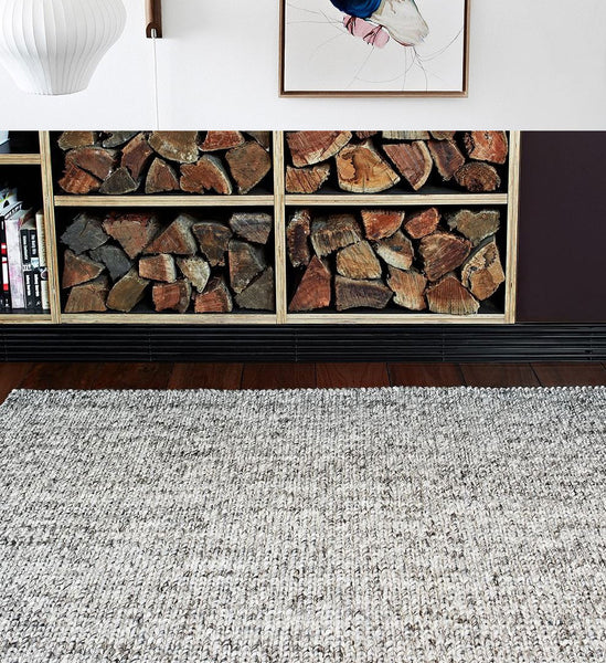 "Cable Knit Hand Woven Braided Wool Rug- 5' 7"" x 7' 10"""