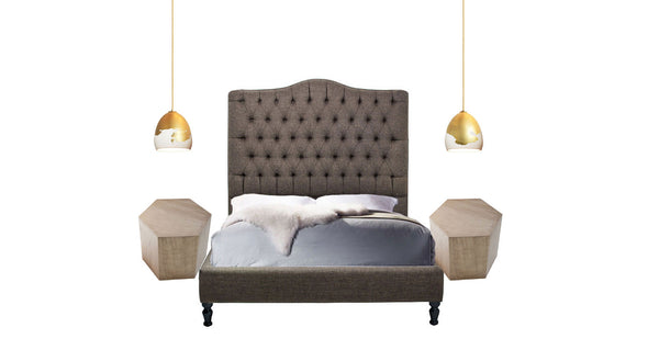 Custom Upholstered Tufted Platform Bed - Hammers and Heels  - 4