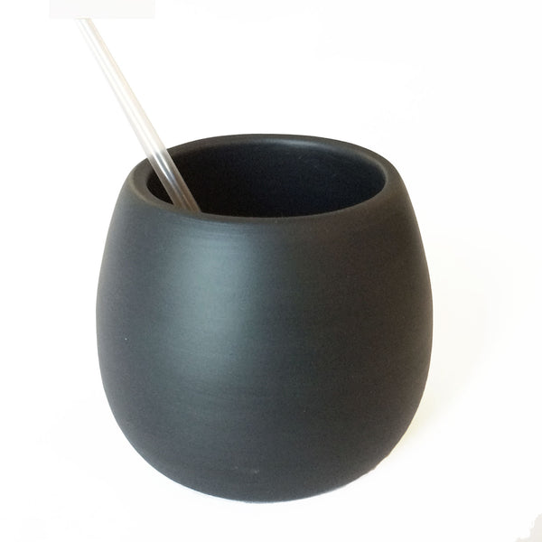 Matte Black Porcelain USA Made Cup - Hammers and Heels  - 1