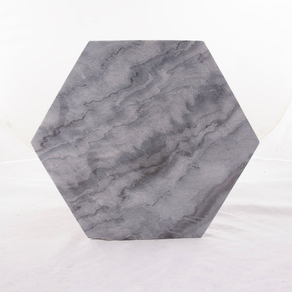 "Grey Marble 15"" Hexagon Cutting & Serving Board"