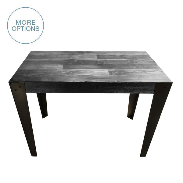 Reclaimed Wood And Hand Welded Steel Industrial Desk Dining Table  USA  Made. Custom.