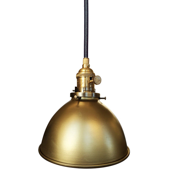 Factory Dome Metal Shade Pendant Light- Hammers and Heels - Made in USA