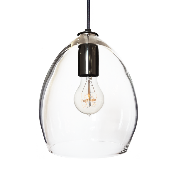 Hand Blown Clear Glass Pendant Light - Hammers and Heels  - 10