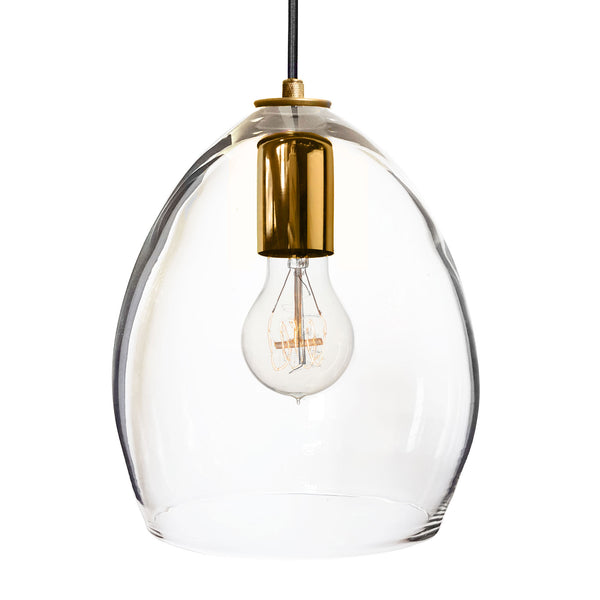 Hand Blown Clear Glass Pendant Light - Hammers and Heels  - 9